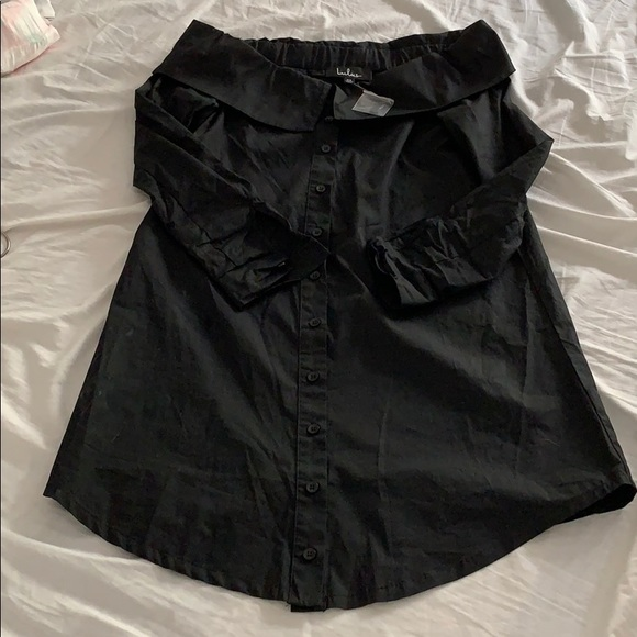Lulu's Dresses & Skirts - Lulus Black off the shoulder T-shirt dress